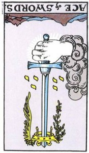 Ace of Swords reversed